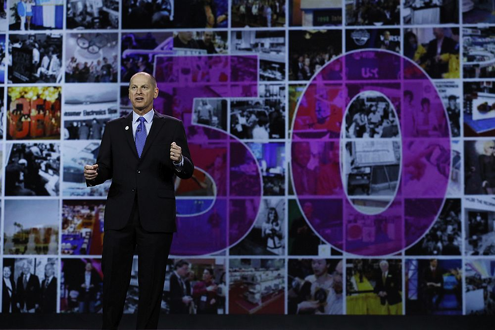 CTA President and CEO Gary Shapiro gives his annual keynote address at CES 2017