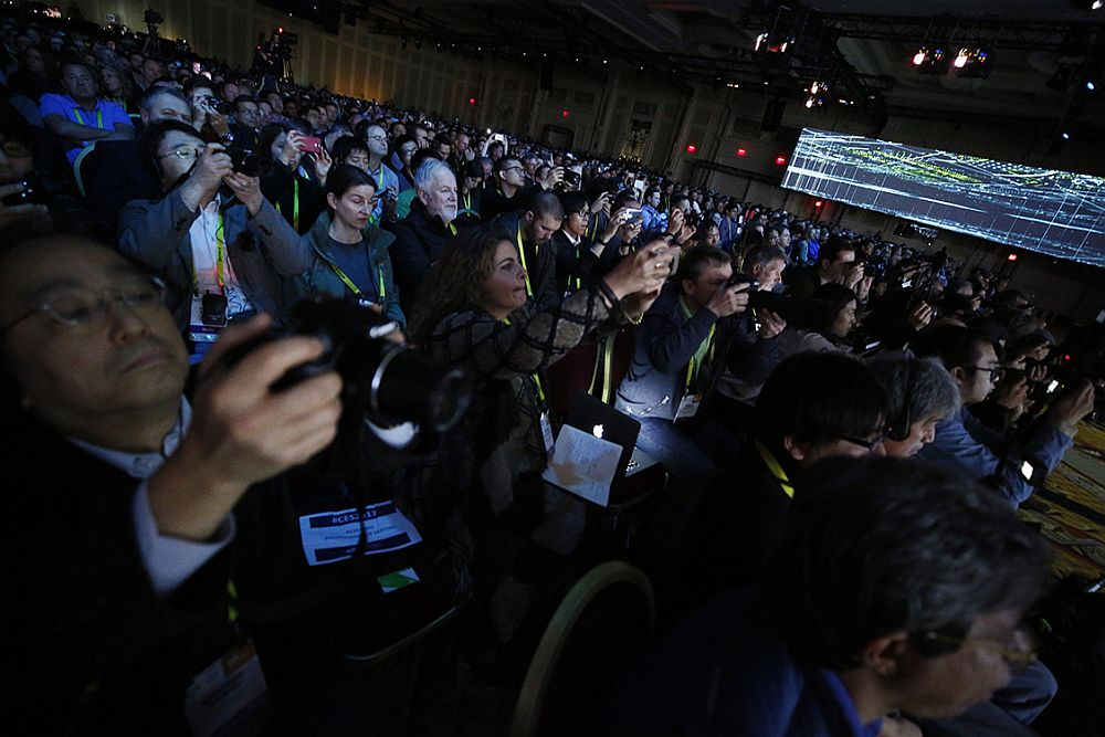 Global media cover the NVIDIA Keynote at CES 2017