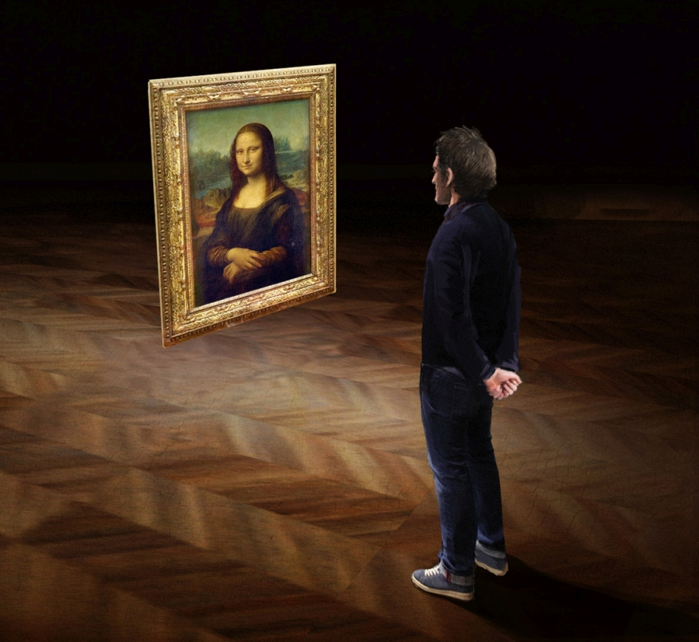 Still from Mona Lisa Beyond the Glass Courtesy Emissive and HTC Vive Arts 3